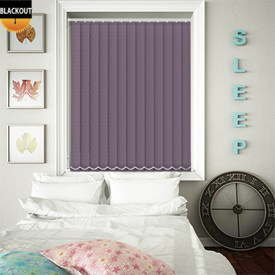 Made to Measure Royale Amethyst Blackout Replacement Vertical Blind Slats