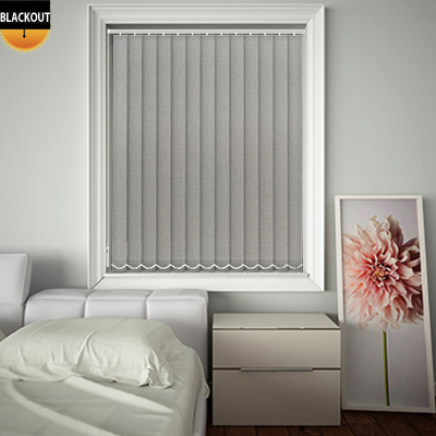 Made to Measure Shimmer Silver Blackout Replacement Vertical Blind Slats
