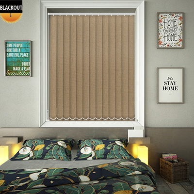 Made to Measure Shimmer Taupe Blackout Replacement Vertical Blind Slats