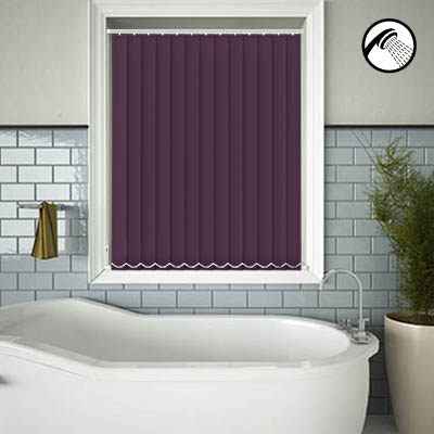 Made to Measure Waterproof Replacement Vertical Blind Slats Shower Safe Aubergine Main