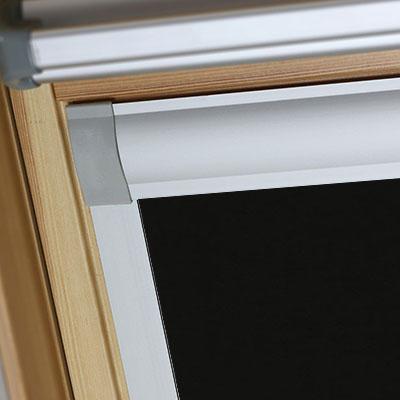 Waterproof Blackout Blinds For Keylite Roof Skylight Windows Shower Safe Black Frame Two