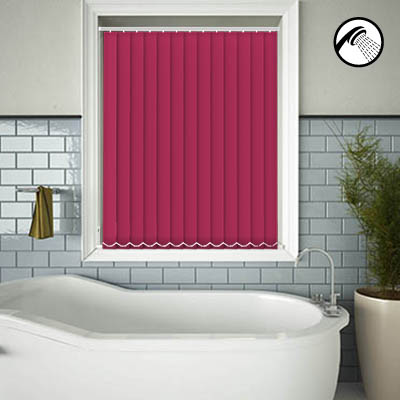 Made to Measure Waterproof Replacement Vertical Blind Slats Shower Safe Bright Pink Main