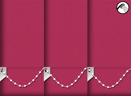Made to Measure Waterproof Vertical Blinds Shower Safe Bright Pink 3 Slats