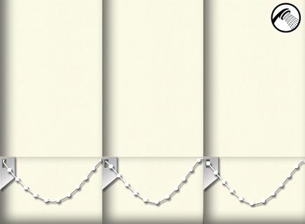 Made to Measure Waterproof Vertical Blinds Shower Safe Butter Cream 3 Slats