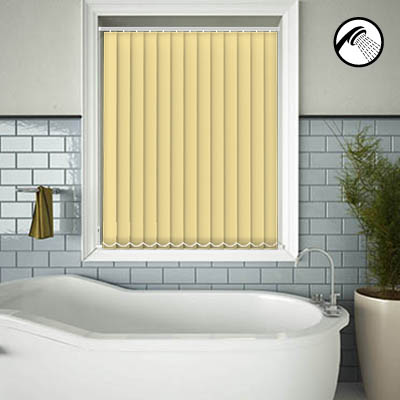 Made to Measure Waterproof Replacement Vertical Blind Slats Shower Safe Buttercup Main