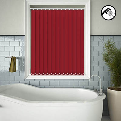 Made to Measure Waterproof Replacement Vertical Blind Slats Shower Safe Flame Main