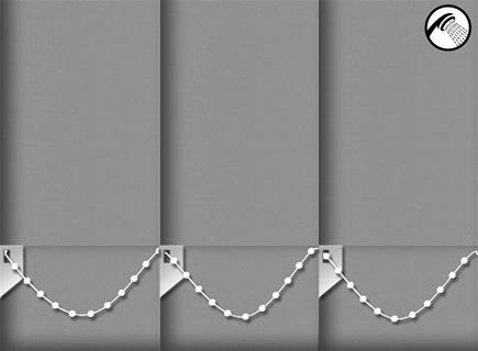Made to Measure Waterproof Vertical Blinds Shower Safe Granite 3 Slats