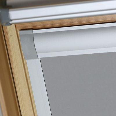 Waterproof Blackout Blinds For Optilight Roof Skylight Windows Shower Safe Grey Frame Two