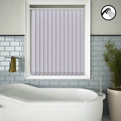 Made to Measure Waterproof Replacement Vertical Blind Slats Shower Safe Lilac Main