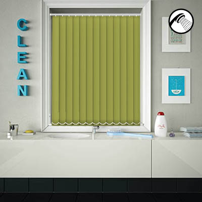 Made to Measure Waterproof Replacement Vertical Blind Slats Shower Safe Lime Main