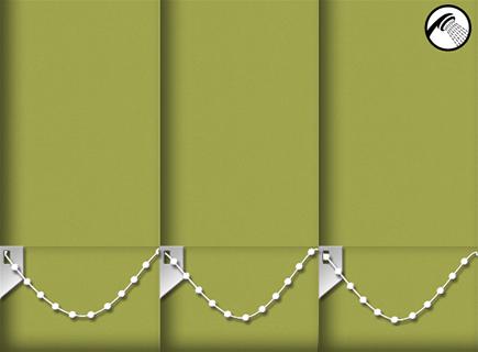 Made to Measure Waterproof Vertical Blinds Shower Safe Lime 3 Slats