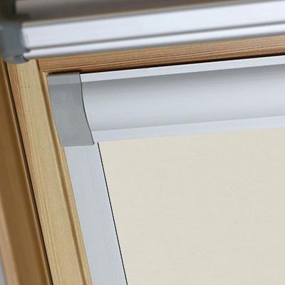 Waterproof Blackout Blinds For Keylite Roof Skylight Windows Shower Safe Linen Frame Two