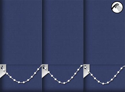 Made to Measure Waterproof Vertical Blinds Shower Safe Navy 3 Slats