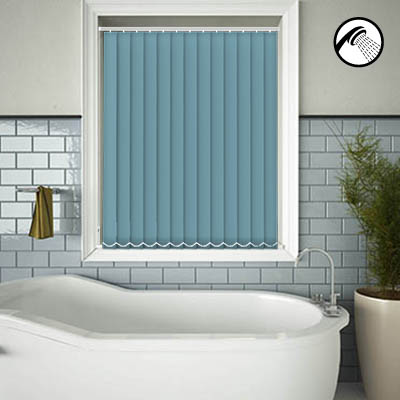 Made to Measure Waterproof Replacement Vertical Blind Slats Shower Safe Turquoise Main