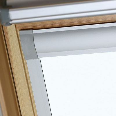 Waterproof Blackout Blinds For Keylite Roof Skylight Windows Shower Safe White Frame Two