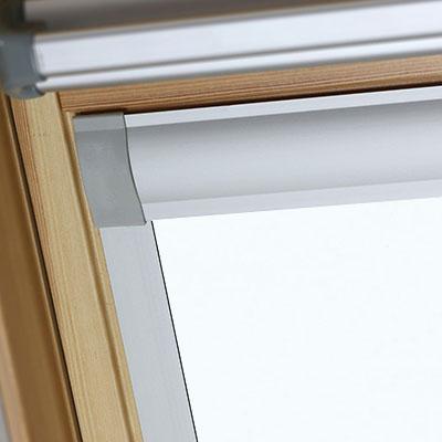 Waterproof Blackout Blinds For Optilight Roof Skylight Windows Shower Safe White Frame Two