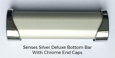 Silver Glitter Roller Blinds Silver Bottom Bar