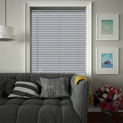 Venetian Blinds Silver Perforated Closed