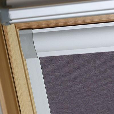 Blackout Blinds For Dakstra Roof Skylight Windows Smoldering Charcoal Frame Two