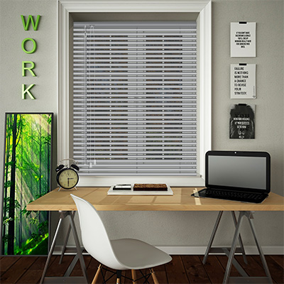 Venetian Blinds Steel Perforated Opened