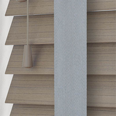 Stratus Faux Wood with Steel Tape Wooden Venetian Blind Close Up