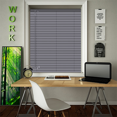 Venetian Blinds Textured Charcoal Closed