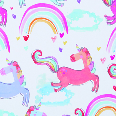 Made to Measure Thermal Blackout Roller Blinds Unicorn Love