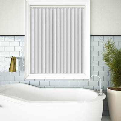 Made to Measure Rigid PVC Waterproof Replacement Vertical Blind Slats Varo White Lifestyle