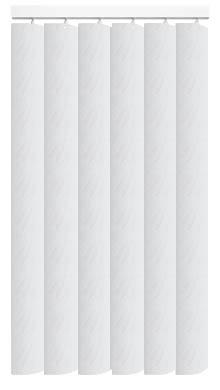 Made to Measure Rigid PVC Waterproof Replacement Vertical Blind Slats Varo White 3Slats Zoom