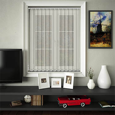 Made to Measure Sheer & Voile Replacement Vertical Blind Slats Voile Cream Main