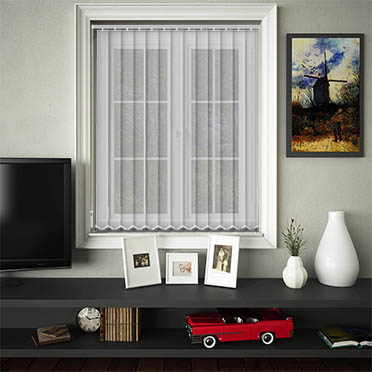 Made to Measure Sheer & Voile Replacement Vertical Blind Slats Voile White Main