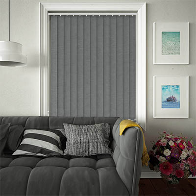 Replacement Vertical Blind Slats Weave Charcoal Main