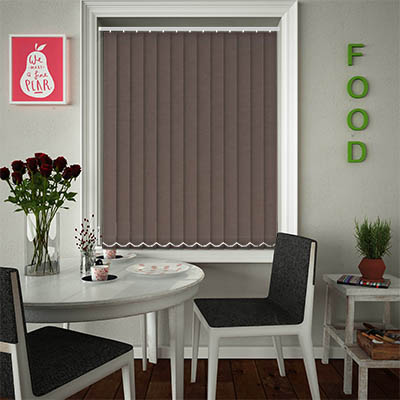 Replacement Vertical Blind Slats Weave Espresso Main