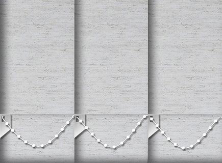 Made to Measure Vertical Blinds Weave Moonstone 3 Slats