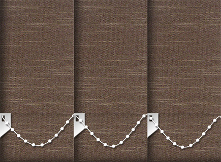 Made to Measure Vertical Blinds Weave Tweed 3 Slats