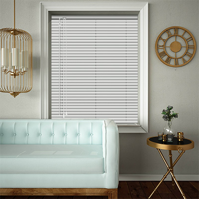 Venetian Blinds White Matt Closed