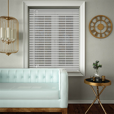 Venetian Blinds White Matt Opened