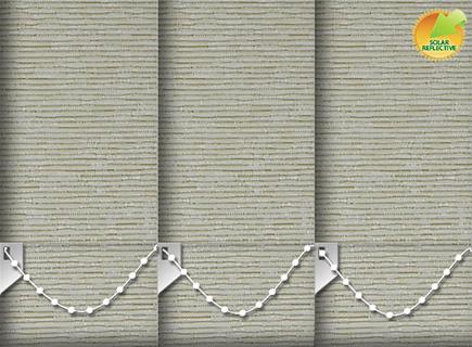 Made to Measure Solar Reflective Vertical Blinds Zia Solar Bamboo 3 Slats