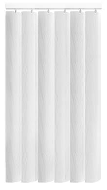 Zoe White Rigid PVC Vertical Blind Main Image