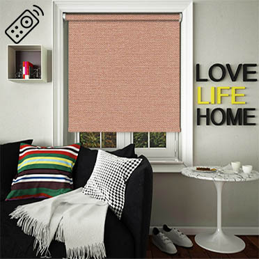Asteroid Copper Motorised Roller Blind