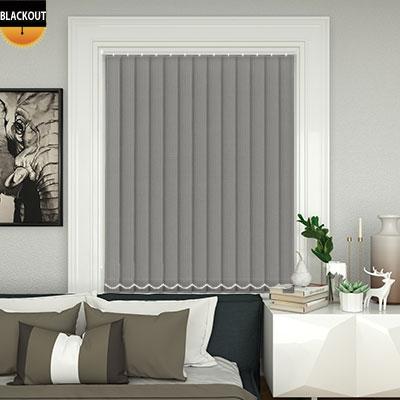 bedtime light grey vertical blind. Black Bedroom Furniture Sets. Home Design Ideas