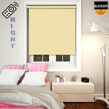 Blackout Daffodil Motorised Roller Blind