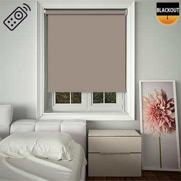 Blackout Henna Motorised Roller Blind