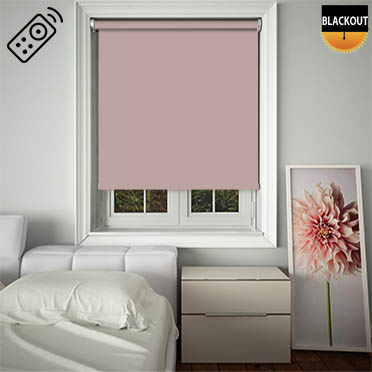Blackout Rose Motorised Roller Blind
