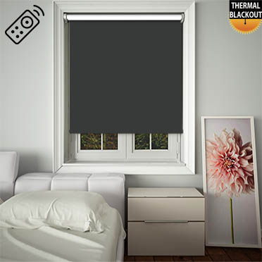 Blackout Vanilla Motorised Roller Blind