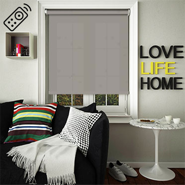 Cambric Dove Grey Motorised Roller Blind