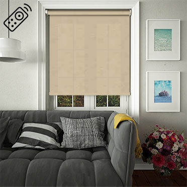 Cambric Pebble Motorised Roller Blind
