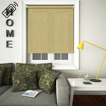 Cambric Pistachio Motorised Roller Blind