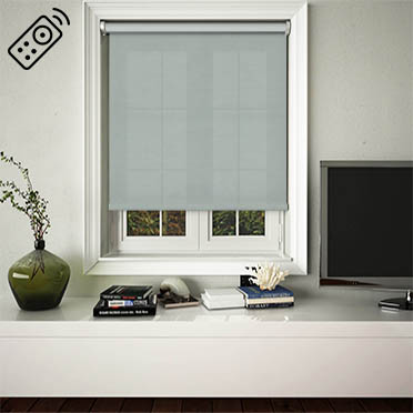 Canvas Celeste Motorised Roller Blind