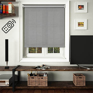 Canvas Onyx Motorised Roller Blind